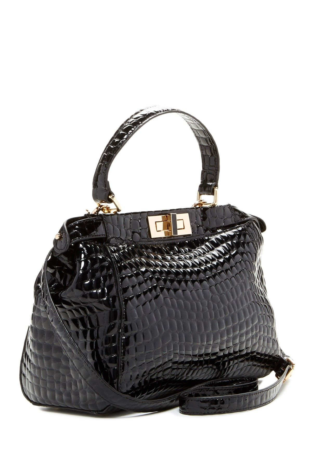 Turn Lock Satchel By Zenith Handbags On Hautelook