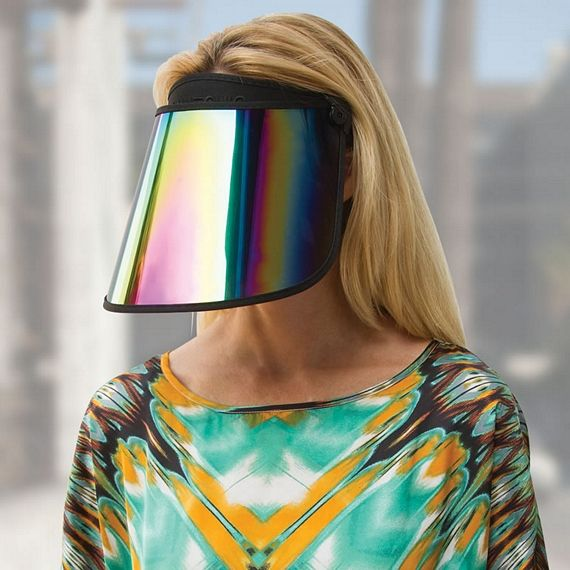 Paparazzi Thwarting Visor Is A Reflective Face Shield Corona Fashion Visor Face Visor