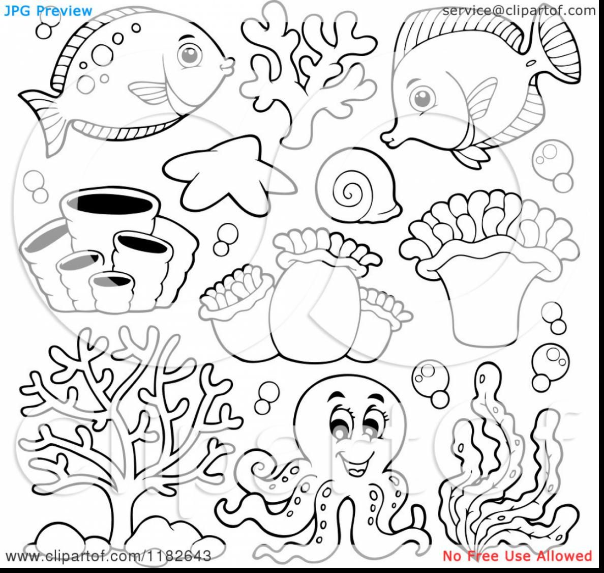extraordinary cartoon sea animals coloring pages with