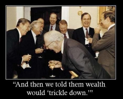 Image result for trickle down reagan memes