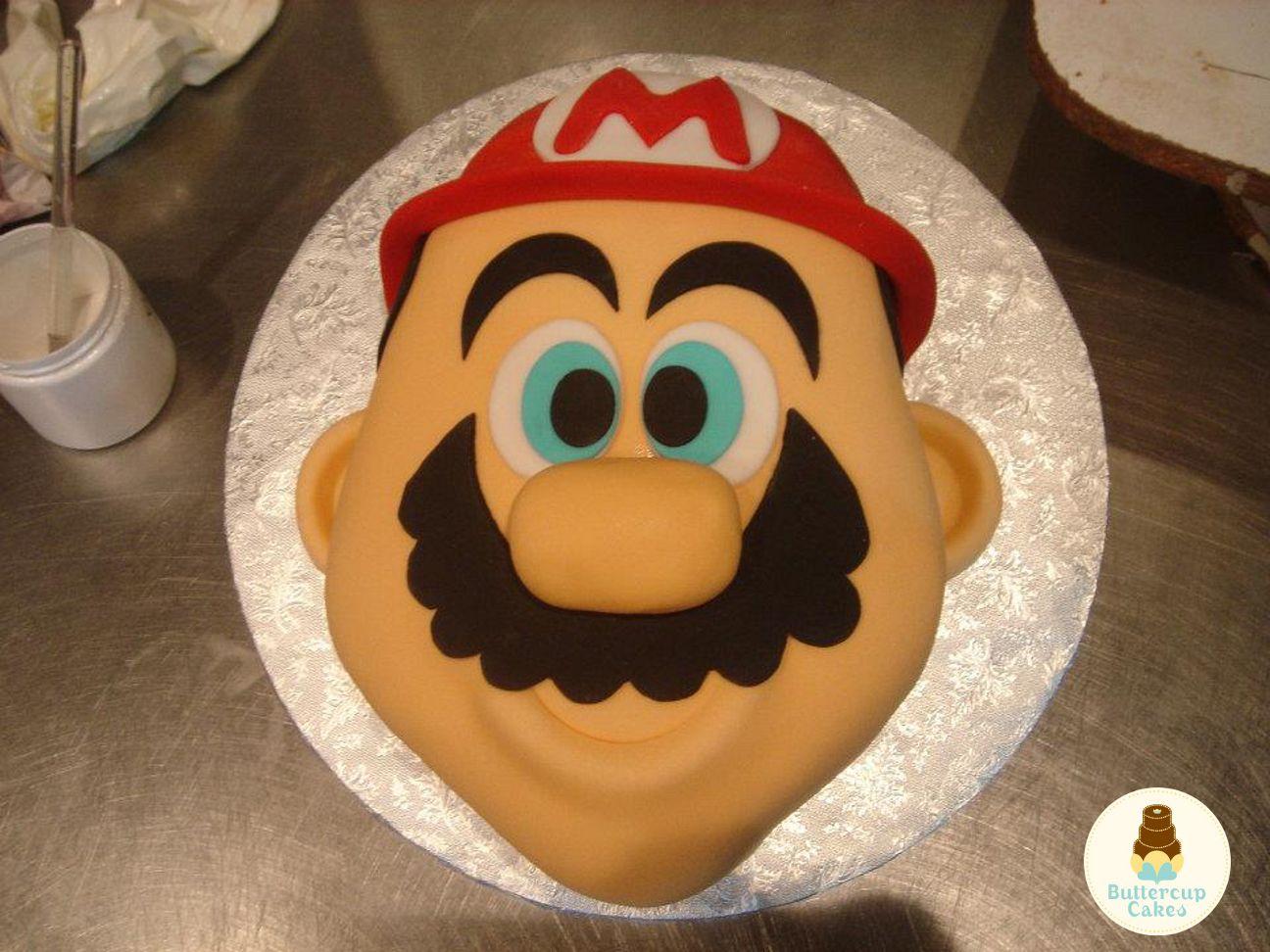 Super Mario Face Birthday Cake