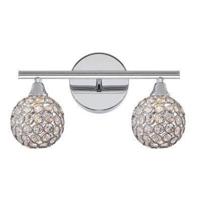 Quoizel Platinum Shimmer 2 Light Led Vanity Light In Polished Chrome