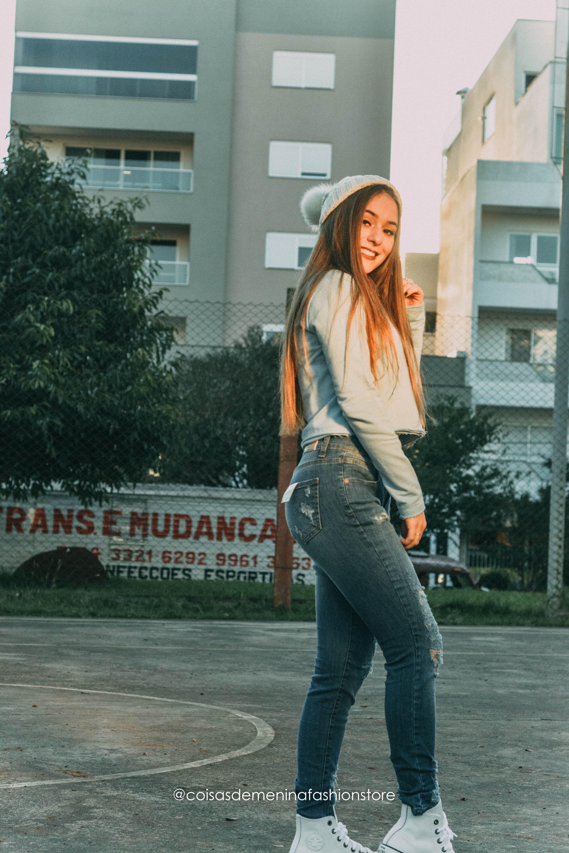 9f9d3ed37 Moletom + Calça Jeans e Tênis All Star Branco! look street / look do dia