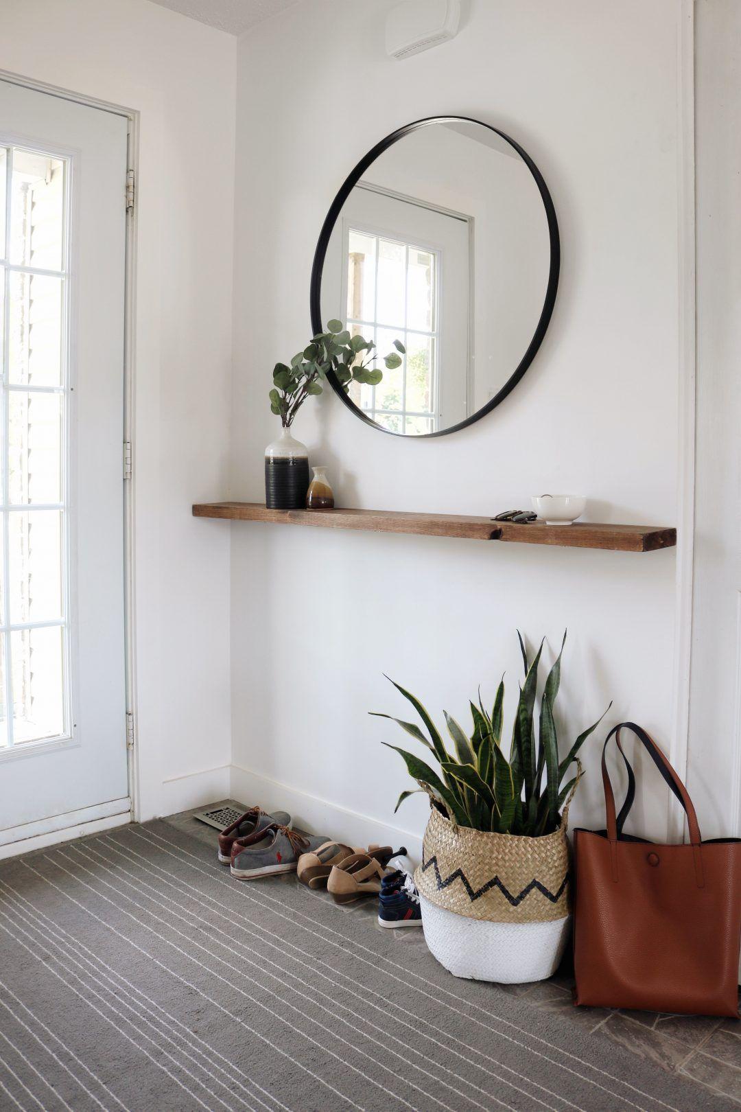 Décoration Entrée De Maison vestibule minimaliste + diy tablette flottante | decoration