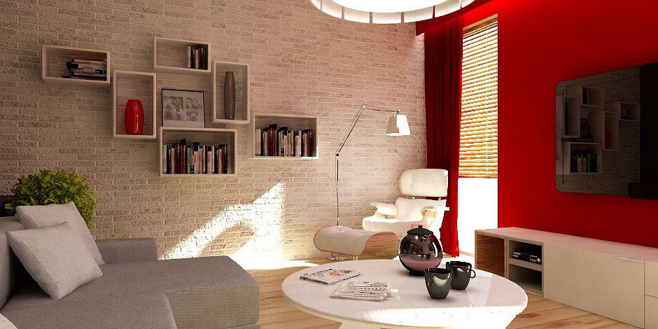 kolory ścian, faktura, kanapa, dekoracje - ideał salonu
