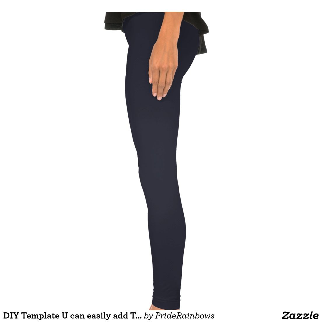 DIY Template U can easily add TEXT IMAGE Leggings | 101 Zazzle PRO ...