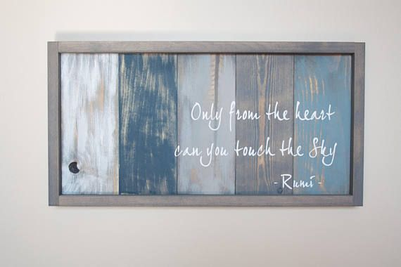 Rumi Quote Art Inspirational Quote Pallet Wood Art Reclaimed
