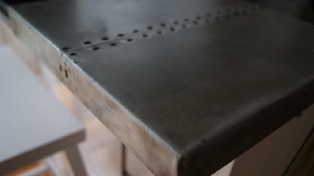 Zinc wrapped table tops and counters for kitchens and ...