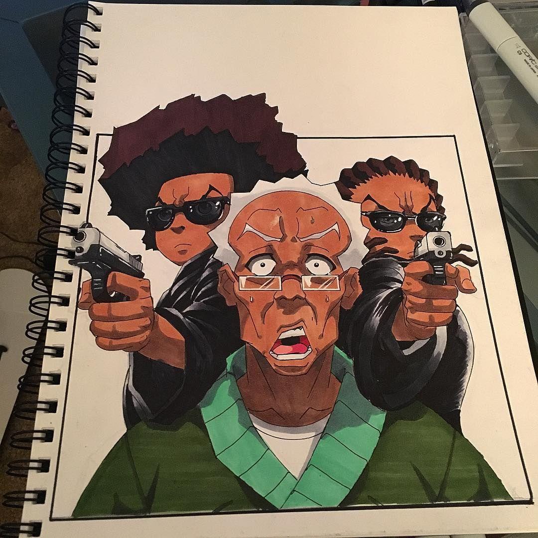 boondocks supreme black cartoon art pictures www