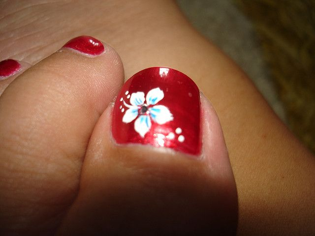 6 Toe Nail Art Flower Toe Nails Toe Nail Flower Designs Toenail Art Designs
