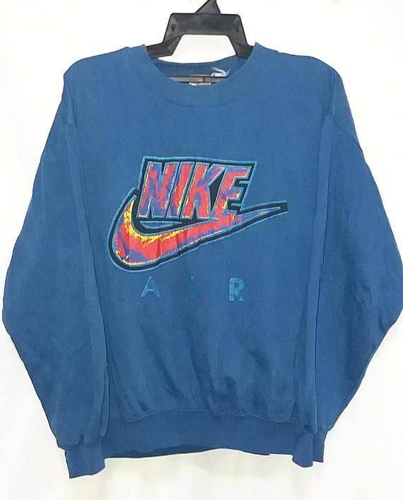 2920694232c0d4 Vintage Nike Air Sweatshirt Big Logo Pullover Crew Neck Sportswear ...