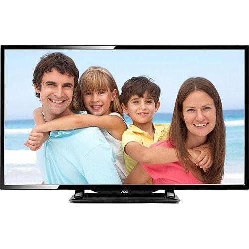 TV LED 40 AOC LE40D1452 HD com Conversor Digital 2 HDMI 1 USB