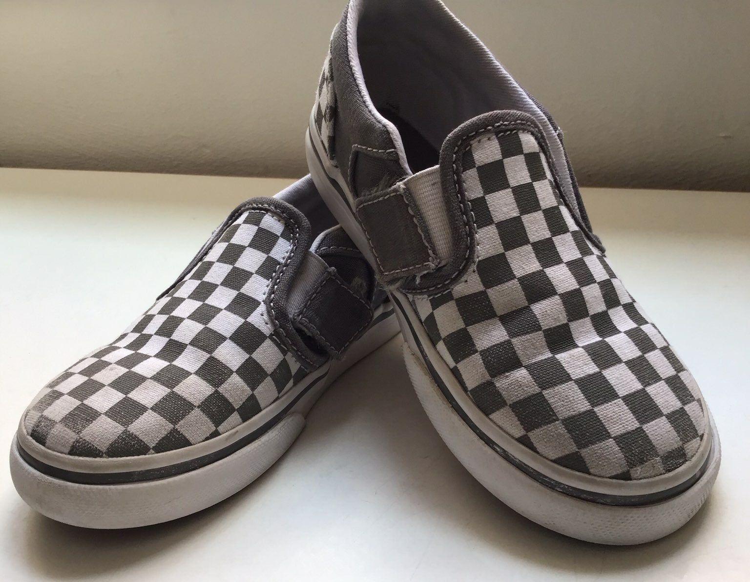 Classic Gray Checkered Vans Slip On