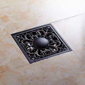 Senlesen Art Carved Oil Rubbed Bronze 4 Shower Floor Waste Drain
