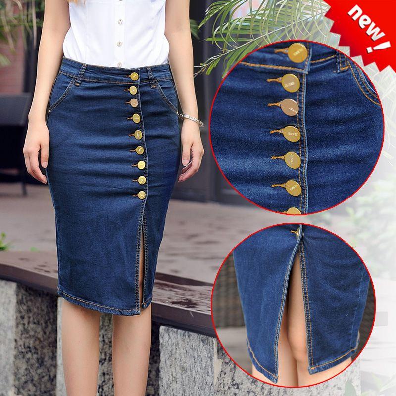 9dfe82da5 faldas jeans con diseño - Mask'ana Google | moda | Faldas, Faldas ...