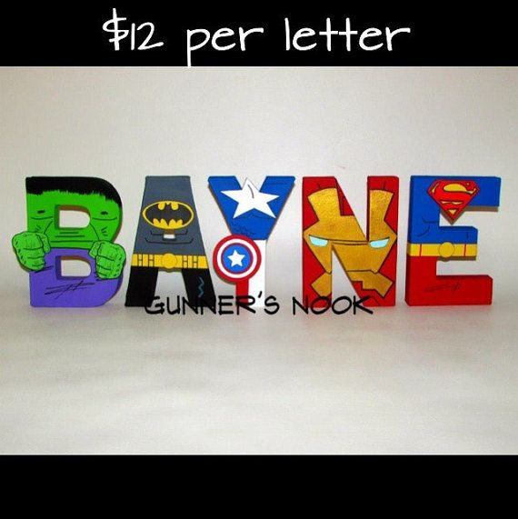 Superhero Character Letter Art by GunnersNook on Etsy Letters - character letter