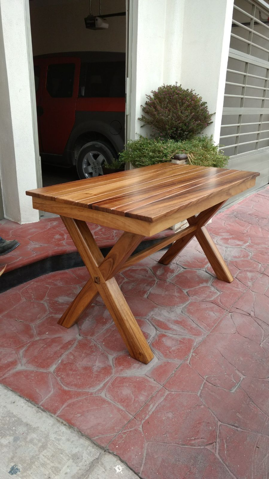Mesa En Madera De Parota Huanacaxtle With Images Picnic Table