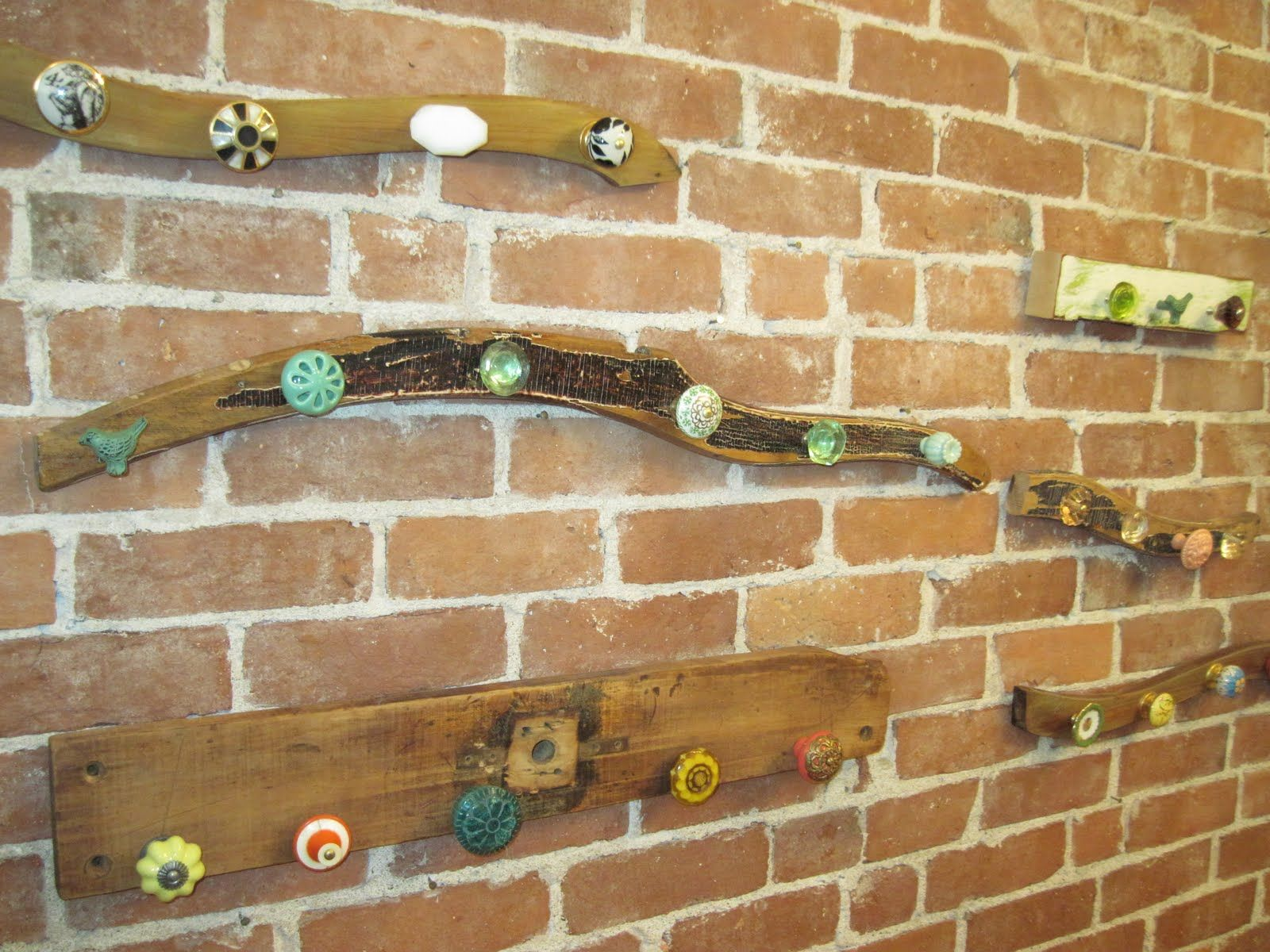 Great A Piece Of Old Wood And Some Old Door Knobs! This Would Be A Great Hat Rack  In The Kids Room.