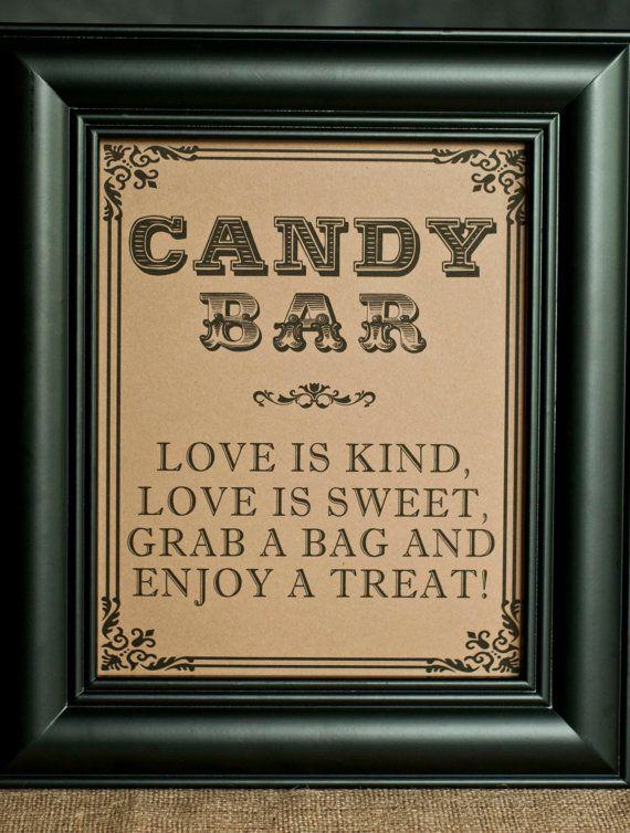 8 X 10 Candy Bar Wedding Sign