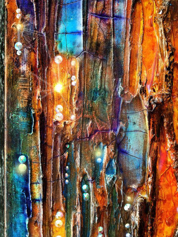 Arte de pared de mixta de condensación Original por ABYSSIMO