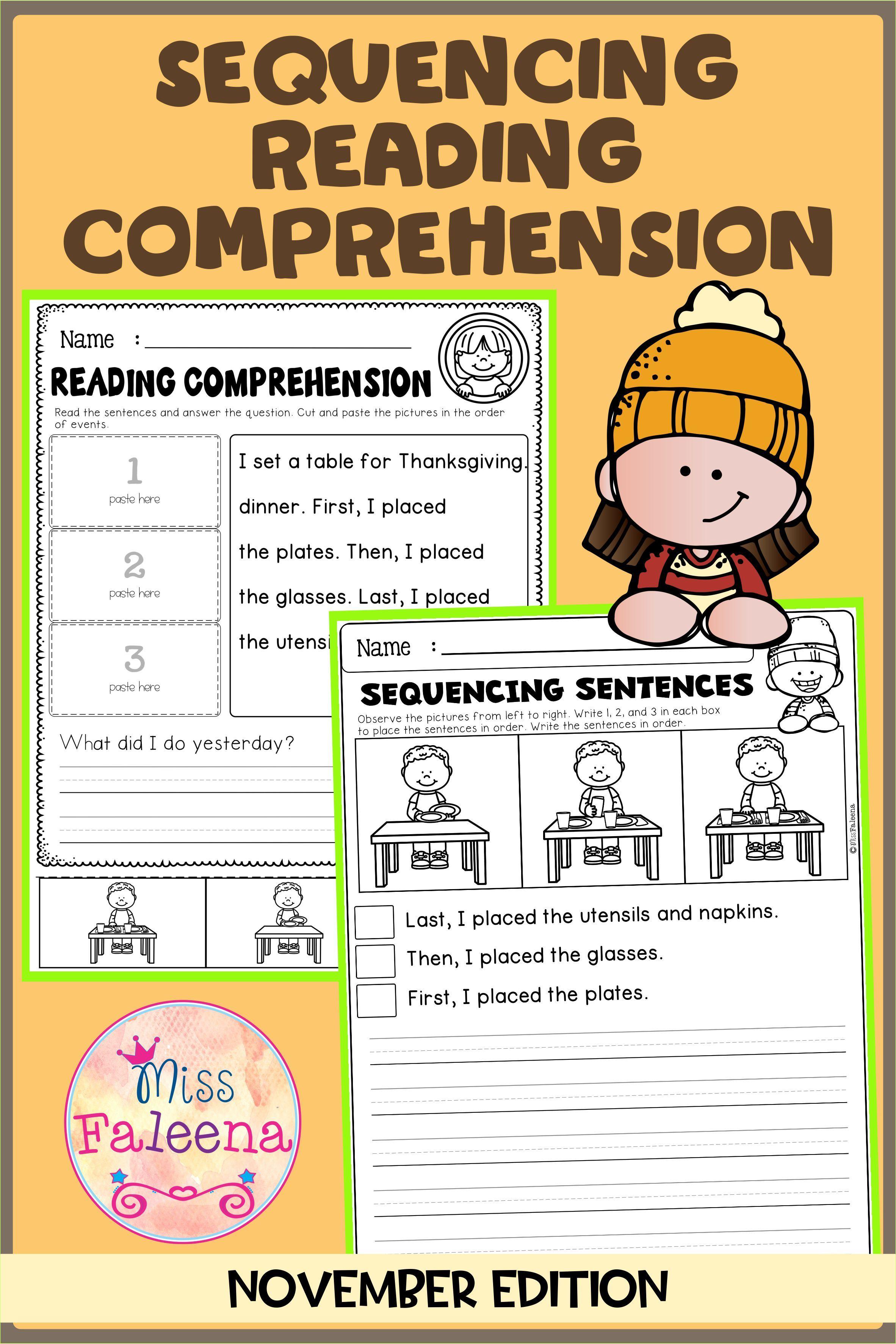 November Sequencing Reading Comprehension Di