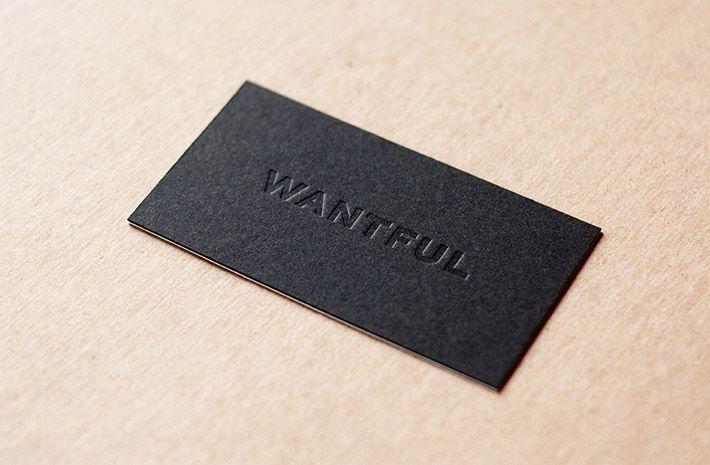 cool-letterpress-business-card-wantful.jpg (710×465) | Type.Set ...