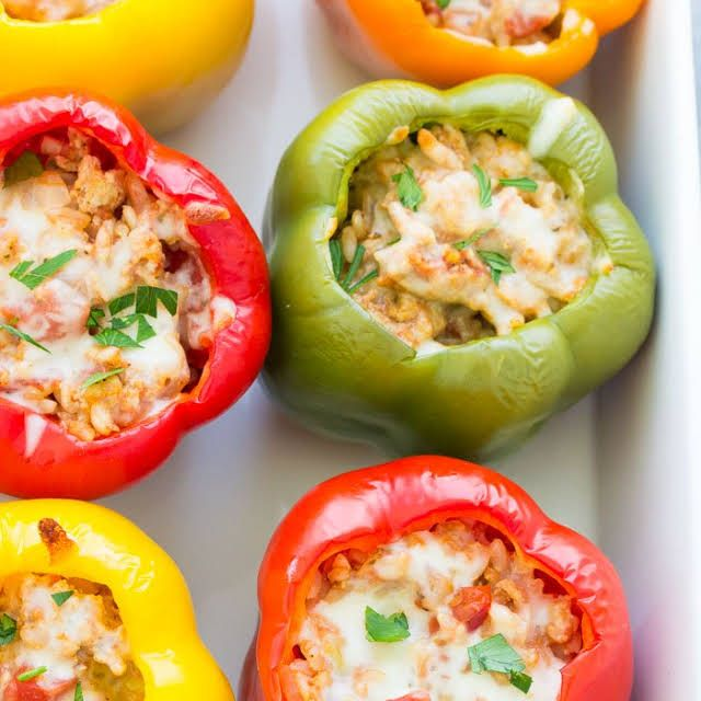 Stuffed Peppers Recipe In 2019 Healthy Recipes For Sue Mike Stuffed Peppers Food Recipes Italian Stuffed Peppers