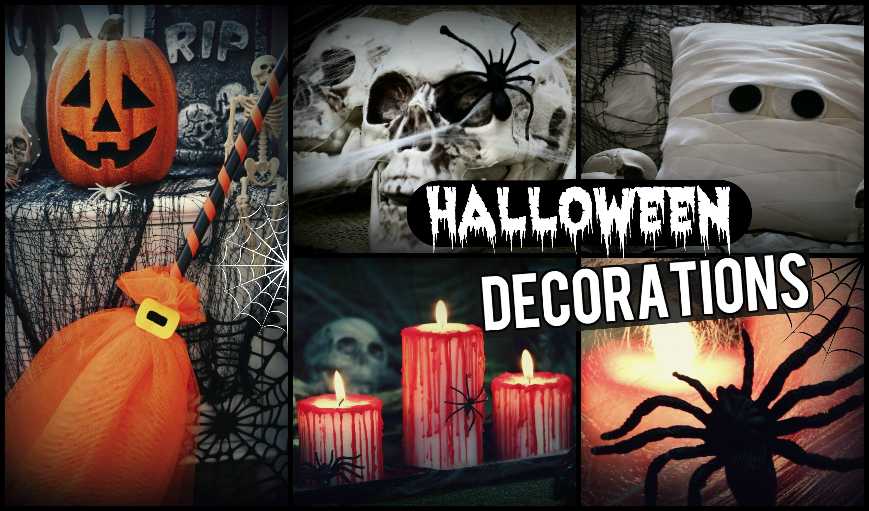 DIY Halloween Decorations! How To Spooky Halloween Room Decor - Spooky Halloween Decorations