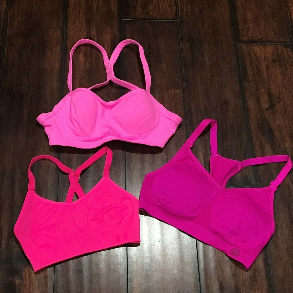 Pink Sports Bras 32B Small Womens Padded VSX Sport Under