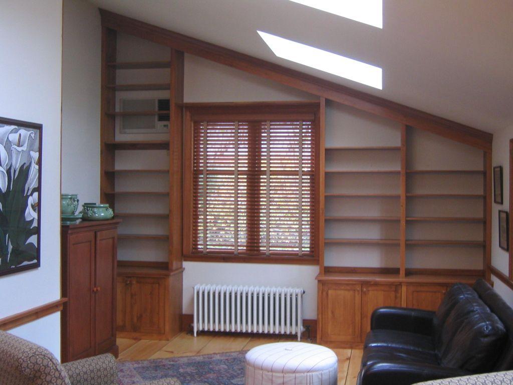 Vaulted Ceiling Bookshelves | Custom Built Ins | Pinterest ...