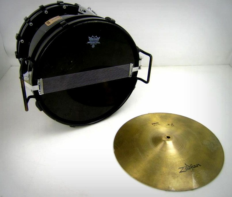 remo legato marching snare drums and zildjian 14 crash cymbals on government liquidation. Black Bedroom Furniture Sets. Home Design Ideas