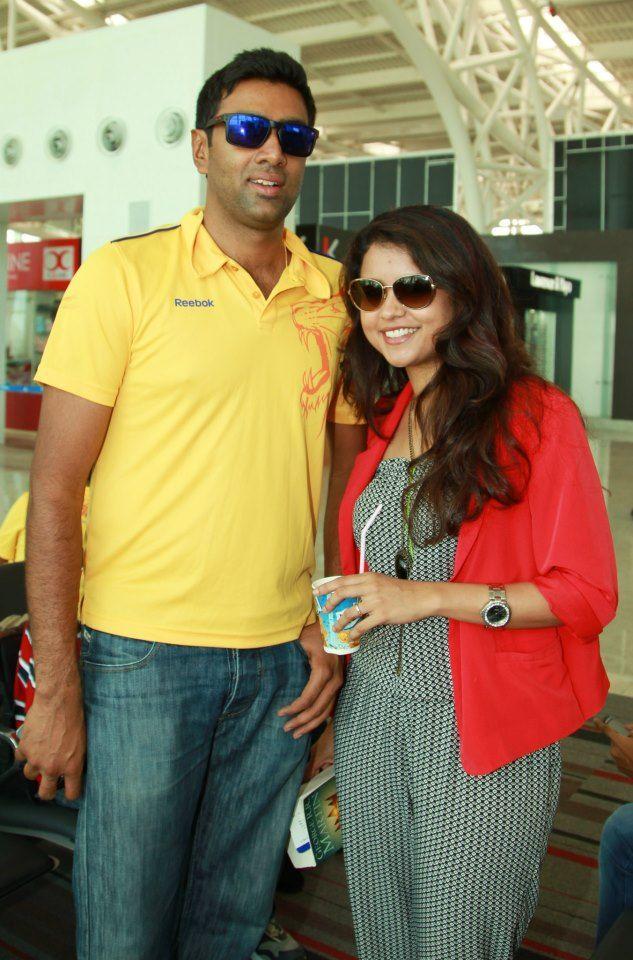 R Ashwin And His Wife Ashwin With his Wife |...