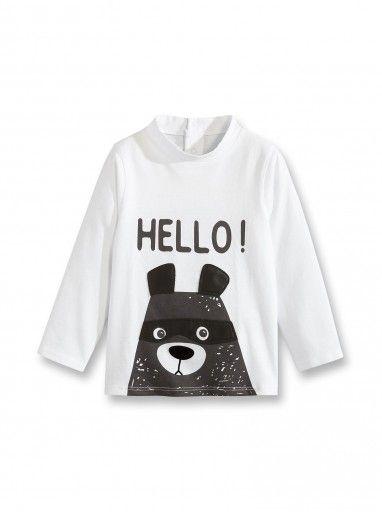 3dec0582c9762 T-shirt à motif ours - Blanc - Nos sélections - Obaïbi   Okaïdi ...
