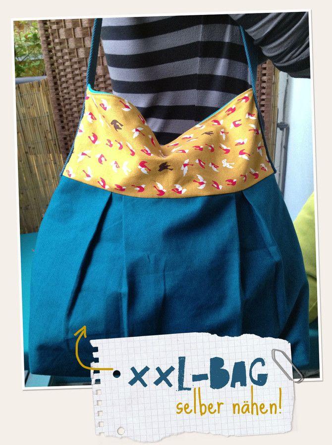 xxl bag shopper tutorial sew a bag tut taschen n hen n hen taschen selber n hen. Black Bedroom Furniture Sets. Home Design Ideas