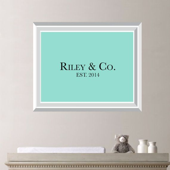Tiffany U0026 Co Inspired Nursery Print Home. By RhondavousDesigns2, $10.00