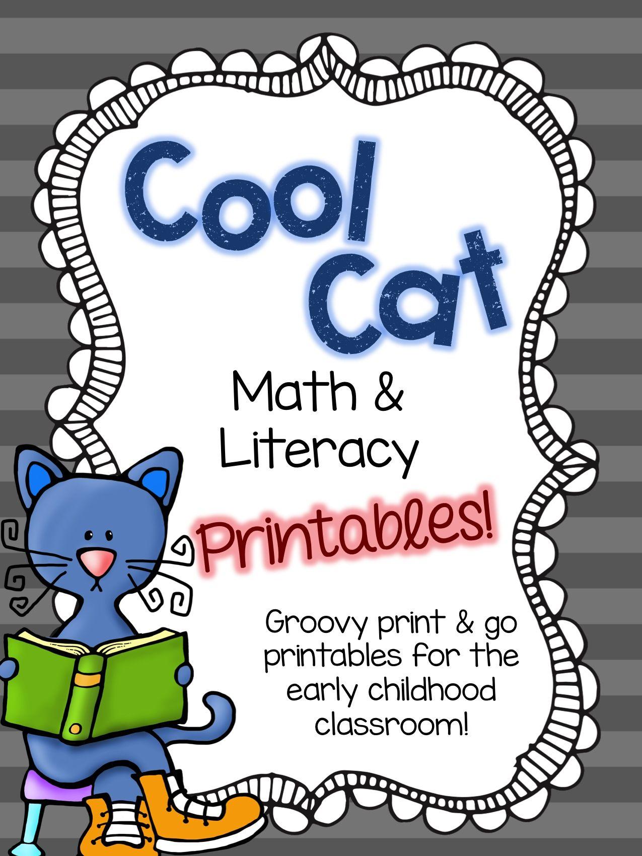 Cool Cat Math Amp Literacy Printables