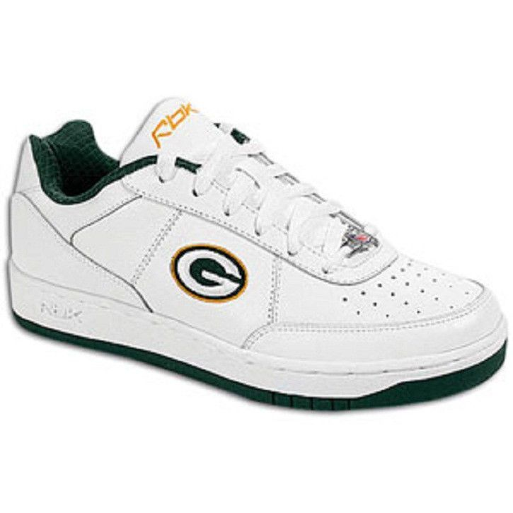 dba3b64f9d59 Green Bay Packers Shoes - NFL Reebok White Recline Mens Size 7.5 Sneakers   Recline  GreenBayPackers