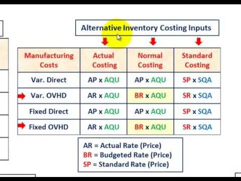 Understand Cost Accounting Systems Input Measurement Actual