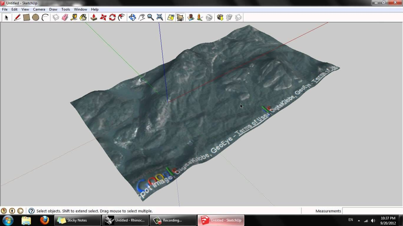 Grab Accurate Topography Data From Google Earth Via Sketchup And