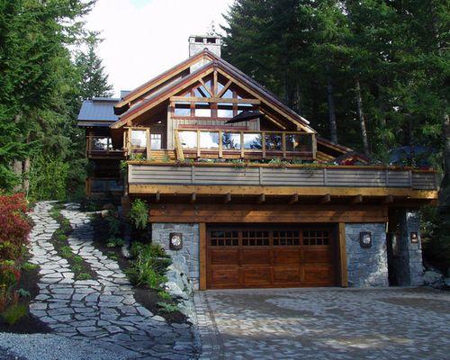 Garage Built In To Hillside Home Design