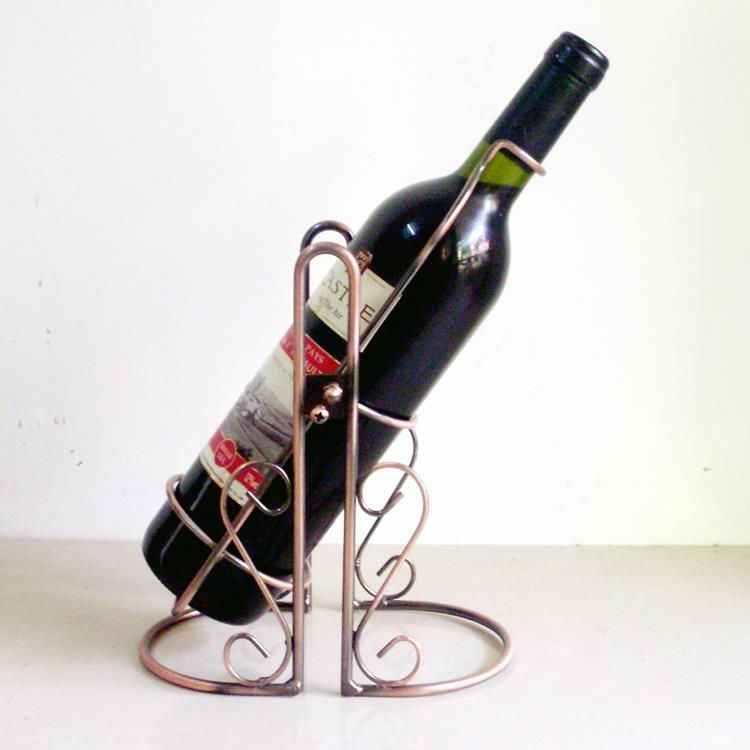 G Creative Electroplated Wrought Iron Art Swing Wine And Beverage Bottle Holder Decor Barware Craft Accessories