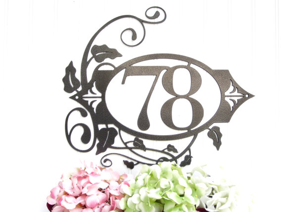 Our 2 Digit Custom Outdoor House Number Metal Sign is sure to impress your neighbors! The 5.75 numbers are clear and easy to view from the