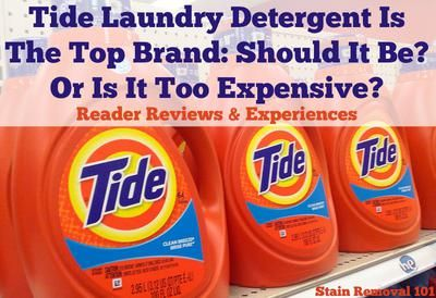 Tide Laundry Detergent Reviews Opinions Tide Laundry Detergent