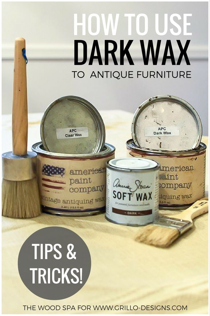Easy to follow tutorial on how to use dark wax to antique furniture /  Grillo Designs - How To Use Dark Wax To Antique Furniture Bútor Pinterest