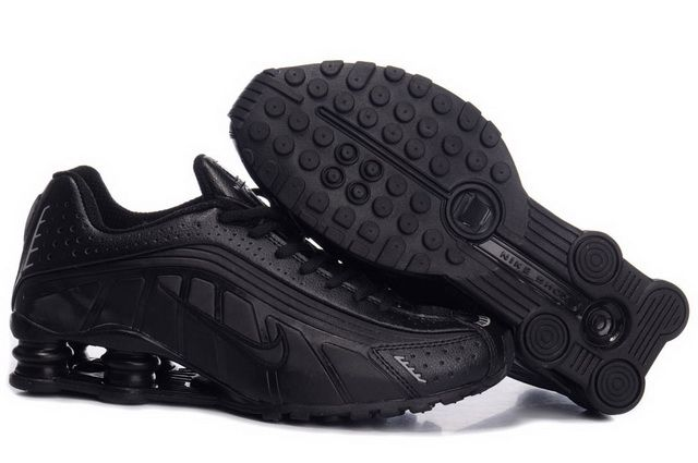 Nike Shox R4 Men Running Shoe 27 All Black