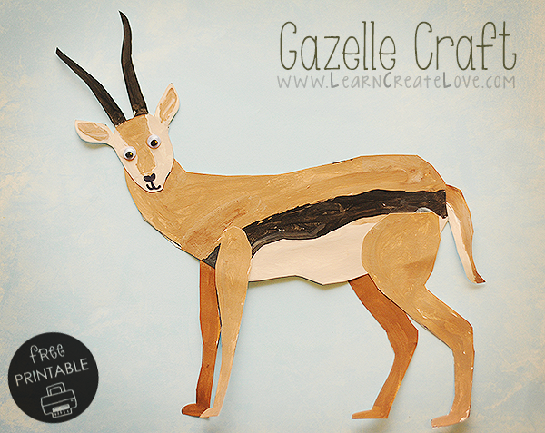 Gazelle Craft with FREE printable template from Learn Create Love ...