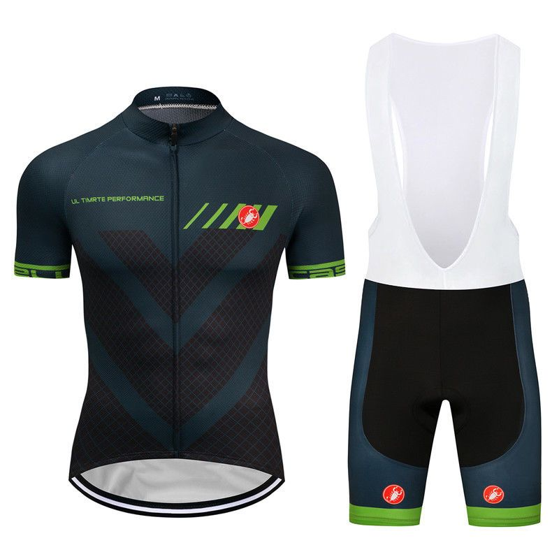 New Men s Cycling Jersey Team 2018 Pro Bib Shorts Kits Pad Bike Shirt  Tights Set  Rainsports 46f5d0efd