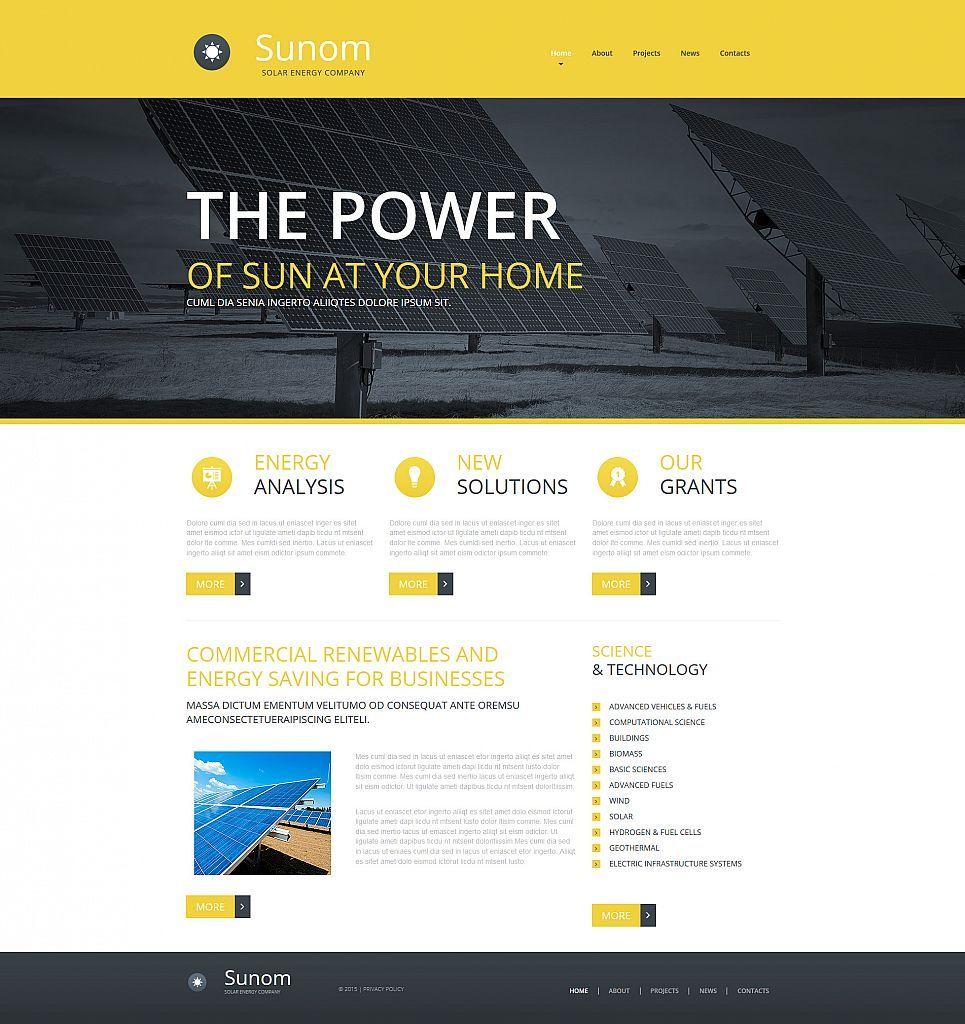 Solar Energy Website Builder Responsive Moto CMS 3