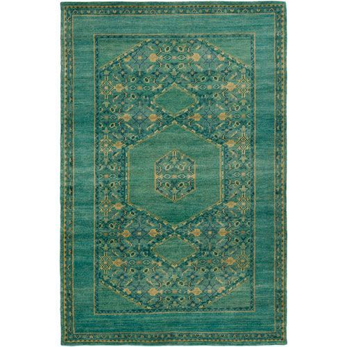 Haven Teal and Emerald Rectangular: 5 Ft 6 In x 8 Ft 6 In Rug - (In Rectangular)