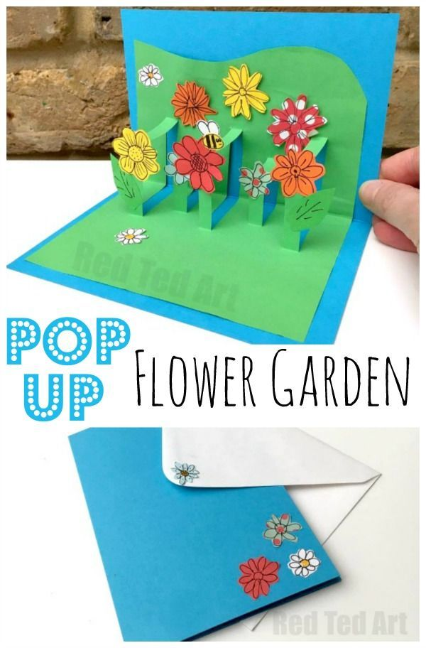 3d Flower Card Diy Pop Up Cards For Kids Crafternoon Muttertag